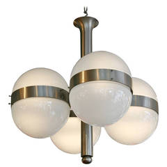 "Sergio Mazza ""Tetraclio"" Chandelier for Artemide"