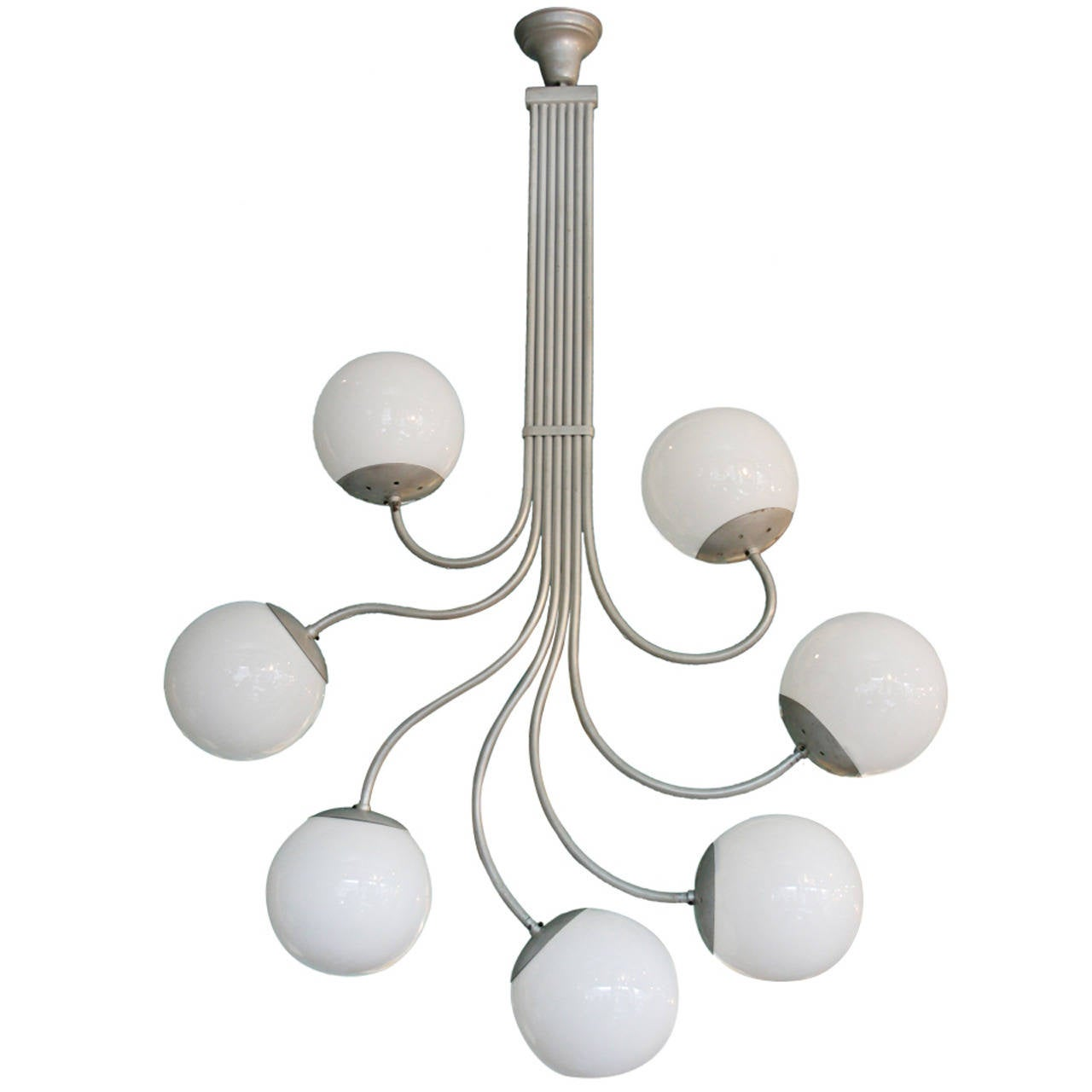 Italian Glass Sphere Chandelier by Gino Sarfatti For Sale