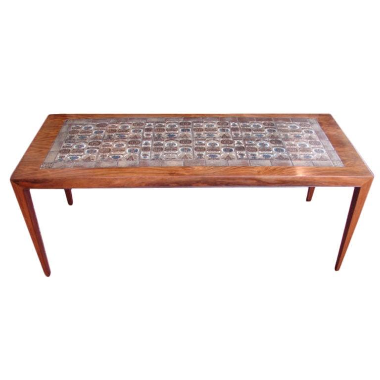 Danish Tiled Coffee Table At 1stdibs