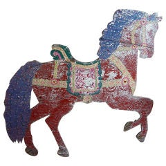 large weathered horse sign