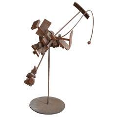 Iron Armillary Atomic Sculpture