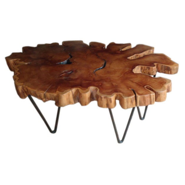 Yew Wood Coffee Table At 1stdibs