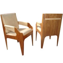 Rare Pair of SS Canberra Chairs by John Wright
