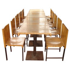 Wood and Steel Dining Chairs and Tables