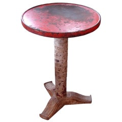 Art Deco Cast Iron Bistro Table by Fischel