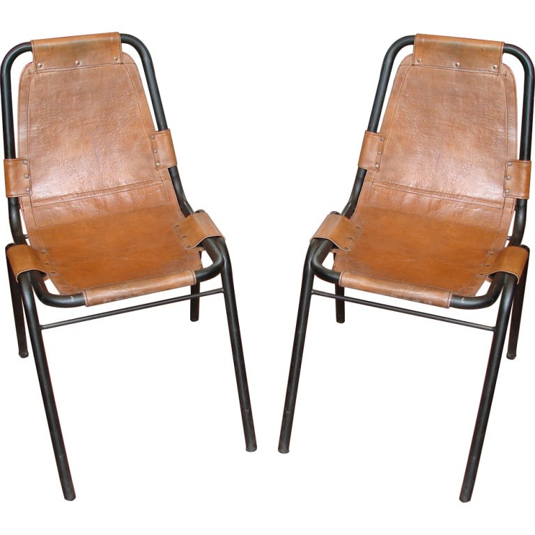 pair of les arcs chairs by charlotte perriand at 1stdibs. Black Bedroom Furniture Sets. Home Design Ideas