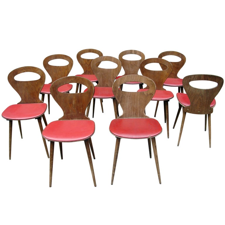 Set of 10 baumann bentwood dining chairs at 1stdibs for S bent dining room furniture