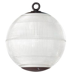 Large Holophane Glass Sphere Globe Light