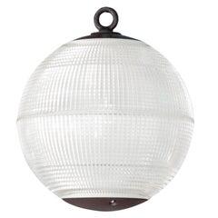 Large Holophane Glass Sphere Globe Light