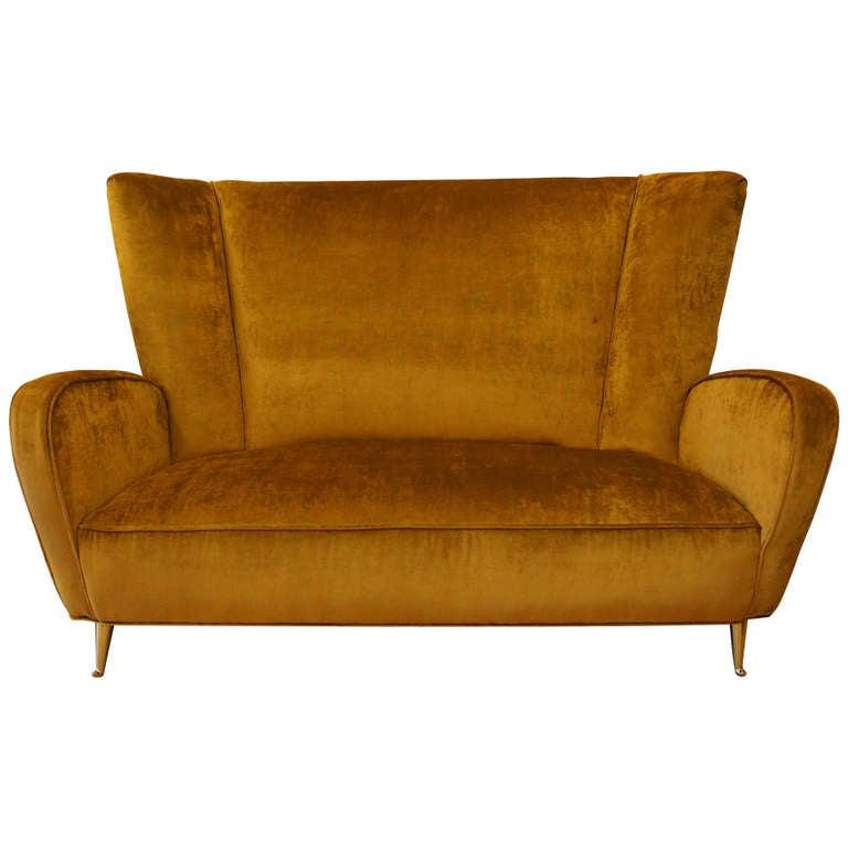 Gracious Italian Settee Small Sofa At 1stdibs