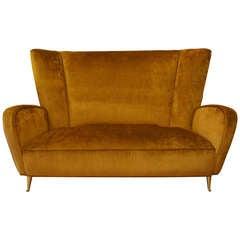 Gracious Italian Settee - Small Sofa