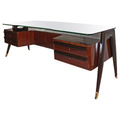 Large and posh Italian 1950's desk by Dassi