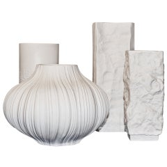 Group Of German Mid-century  White Porcelain Vases