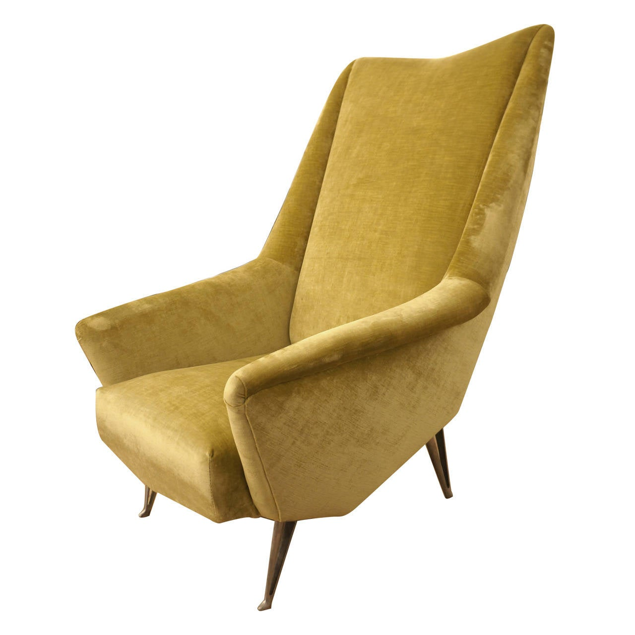 Design forward and comfortable italian mid century lounge chair by isa at 1stdibs - Mid century chair designers ...