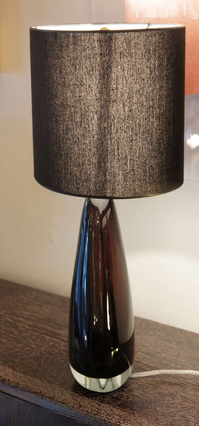 Pair of flavio poli for seguso aubergine table lamps at 1stdibs italian pair of flavio poli for seguso aubergine table lamps for sale mozeypictures Image collections