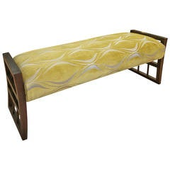 Posh Elongated Italian Mid-Century Bench