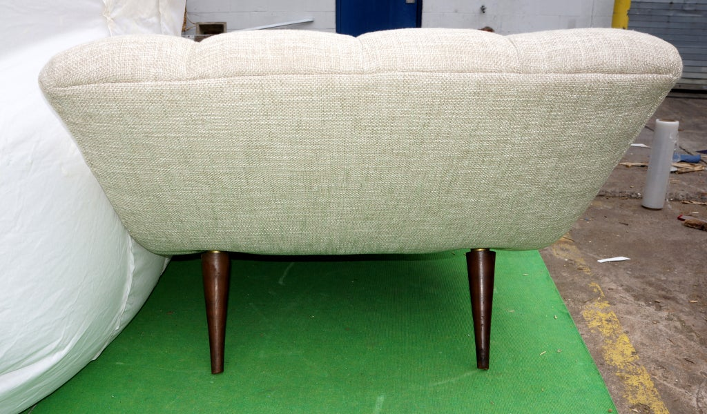 Sinuous 50 39 s day bed chaise longue at 1stdibs for Chaise longue day bed