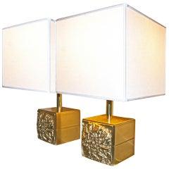 Italian '70s Brass Table Lamps
