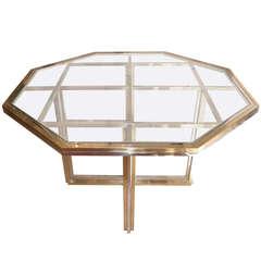 Elegant Italian 70's table by Romeo Rega