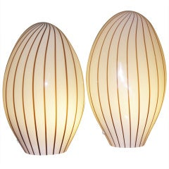 Playful Murano Glass Table Lamps