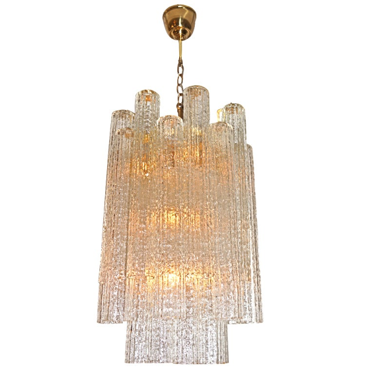 Murano 50s Hand Blown Glass Chandelier At 1stdibs