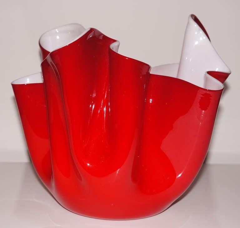 """Red Venini """"Fazzoletto"""", Italy, 1950s 3"""