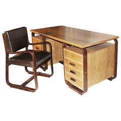 Giuseppe Pagano 1950s Desk and Chair