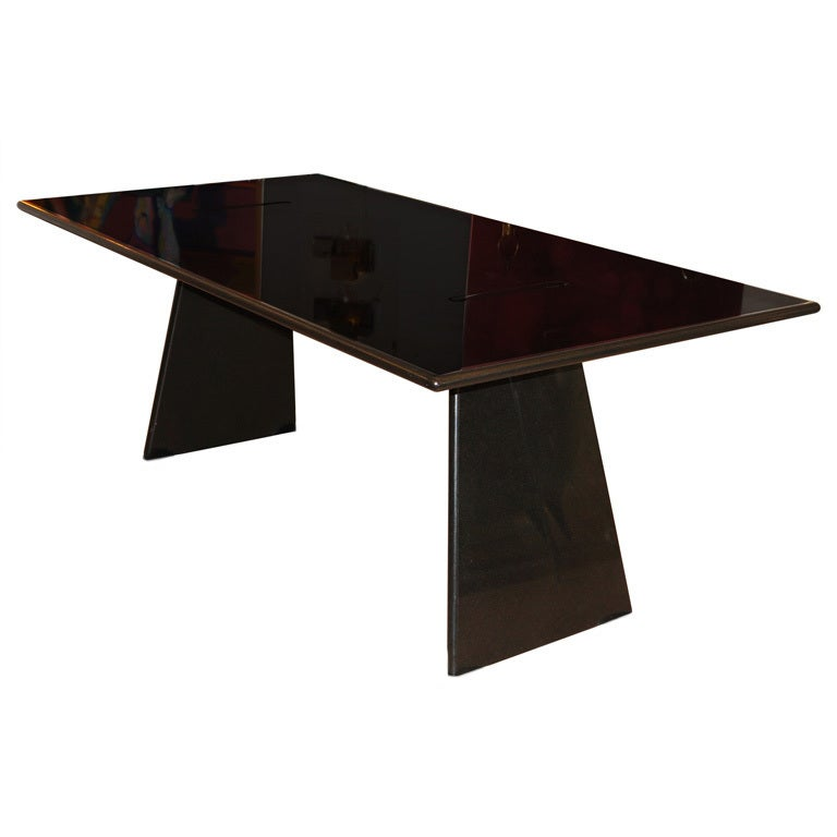 Sleek mangiarotti asolo table at 1stdibs for Sleek dining table designs