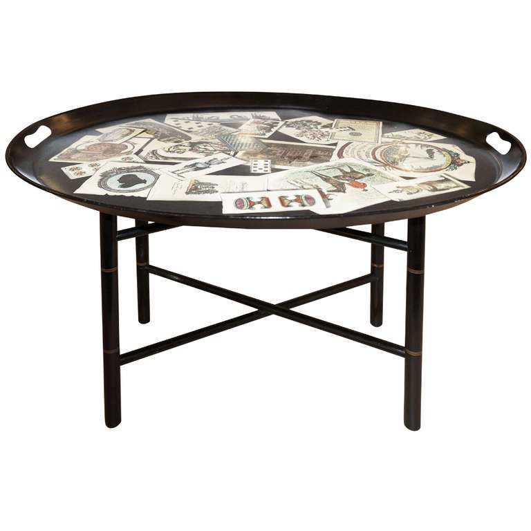 Fornasetti Whimsical Tray Side Table at 1stdibs