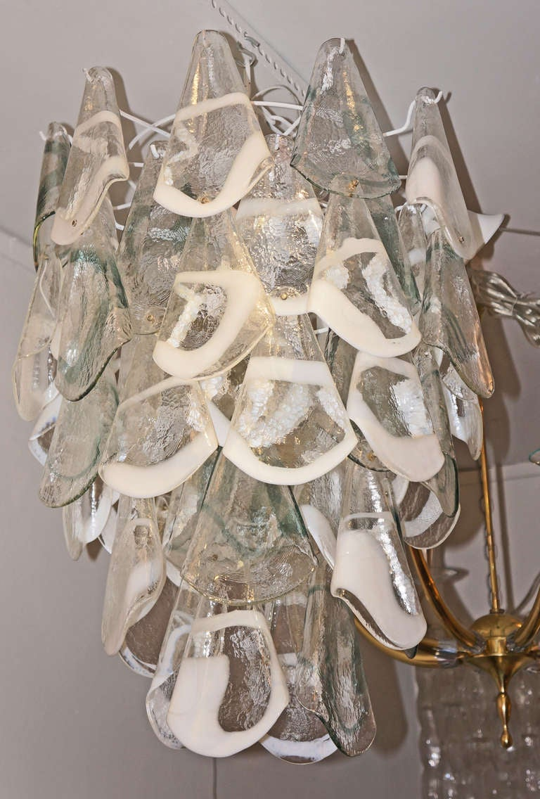 Hand Blown Murano Glass Chandelier Italy 1960s For Sale