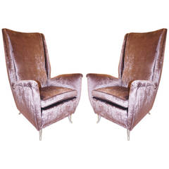 Imposing Lounge Chairs by ISA, Italy, 1950s