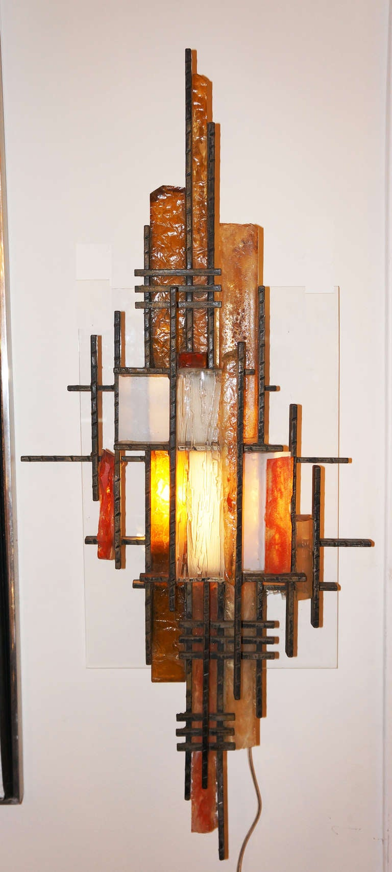 Italian Made Wall Sconces : Italian Poliarte Lighting Wall Sculpture / Sconce at 1stdibs
