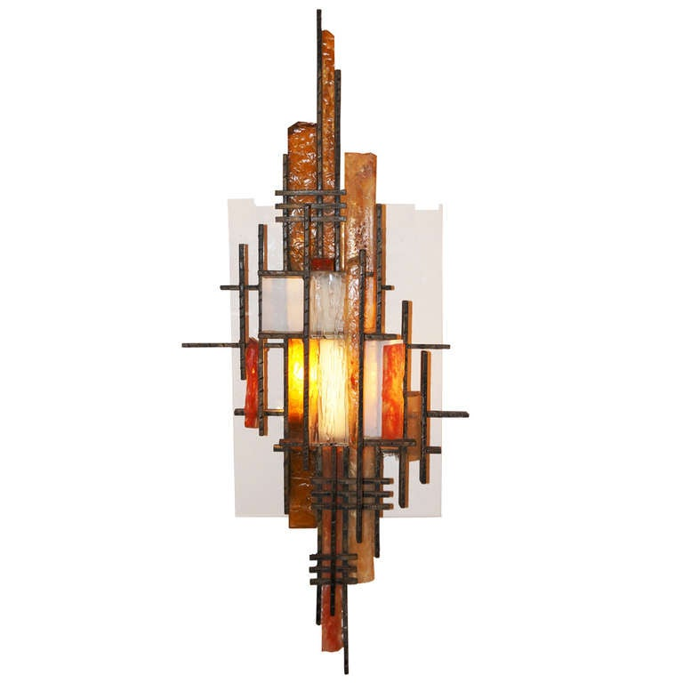 Italian Poliarte Lighting Wall Sculpture / Sconce at 1stdibs