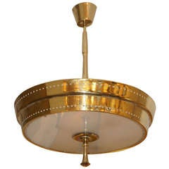Elegant and Unusual Italian Brass Chandelier / Ceilng Light