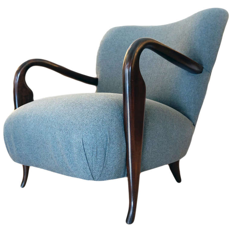 Elegant And Comfortable Italian 1940s Club Chair At 1stdibs