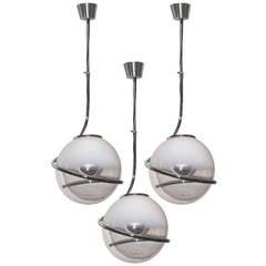 Set of Three Fabio Lenci Pendant lights