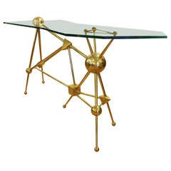 Limited Edition Italian Brass Console By Fedele Papagni for Gaspare Asaro, 2013
