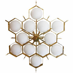 Limited Edition Flush Mount Fixture by Fedele Papagni for Gaspare Asaro