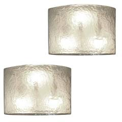 Pair of Murano Glass Iridescent Glass Sconces, 1960s