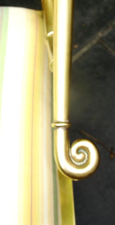 Pair of Asian Inspired Italian Brass Armchairs 2