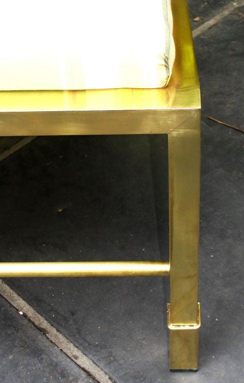 Pair of Asian Inspired Italian Brass Armchairs 3