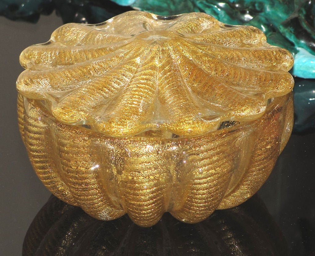 exquisite barovier and toso venetian glass bowl with lid at 1stdibs. Black Bedroom Furniture Sets. Home Design Ideas