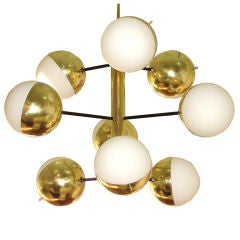 Striking Stilnovo nine lights chandelier