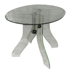 Posh Italian 1940s Glass Side Table