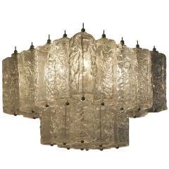 Small Lumenform Murano chandelier