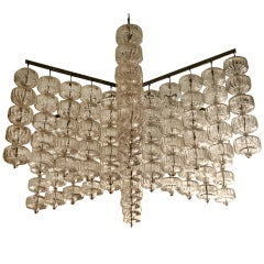 Very la 60'srge chandelier by  Aloys Gangkofner