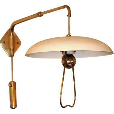 Adjustable Height Wall Lamps : Italian 50 s Extensible/Adjustable Wall Lamp at 1stdibs