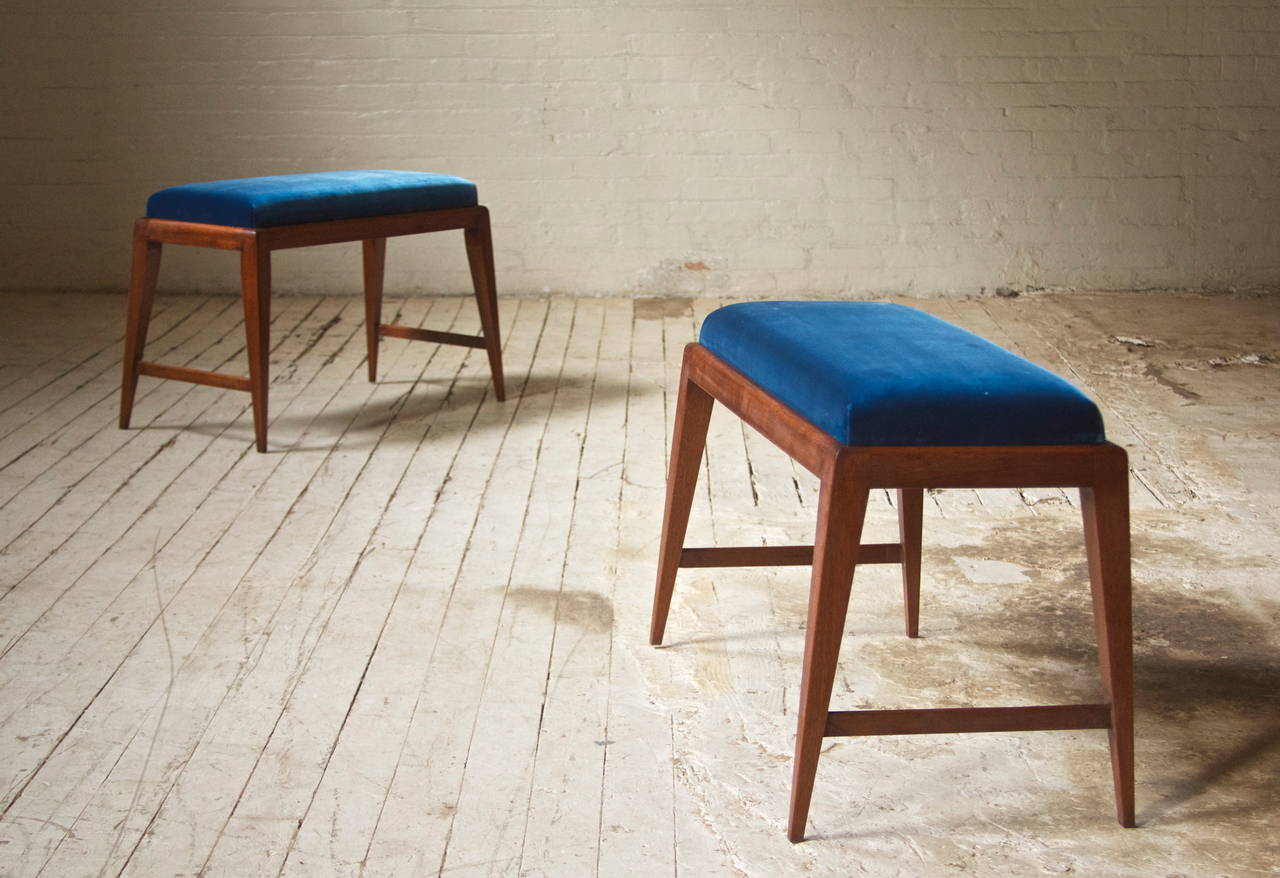 Modern Pair of Benches in the Style of Gio Ponti
