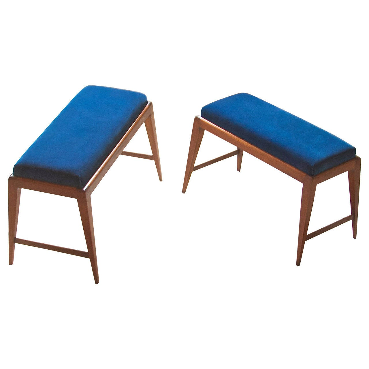 Pair of Benches in the Style of Gio Ponti