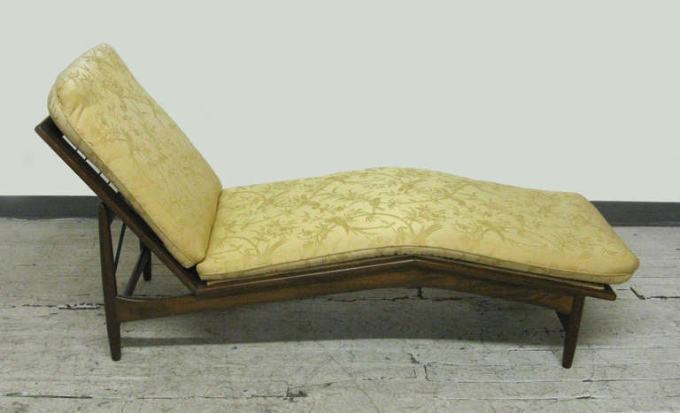 Mid Century Danish Modern Adjustable Chaise Lounge By